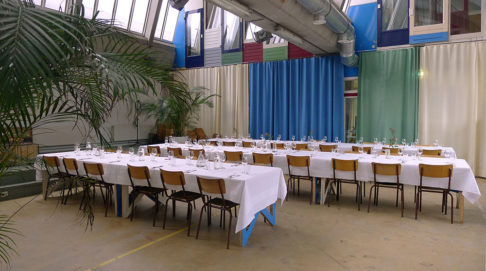 Diner in zaal Vechtclub XL