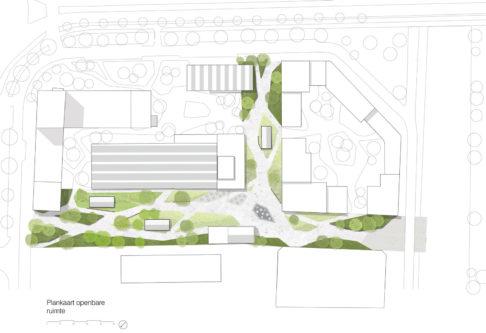 Toekomst OPG-terrein plankaart openbare ruimte door LINT