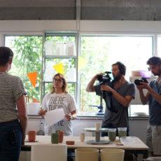 Enter the studio VechtclubXL Utrecht, met Kris Black, Renske Versluijs en Hustle